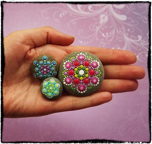 Piedras mandalas2 - Crea tus propios mándalas