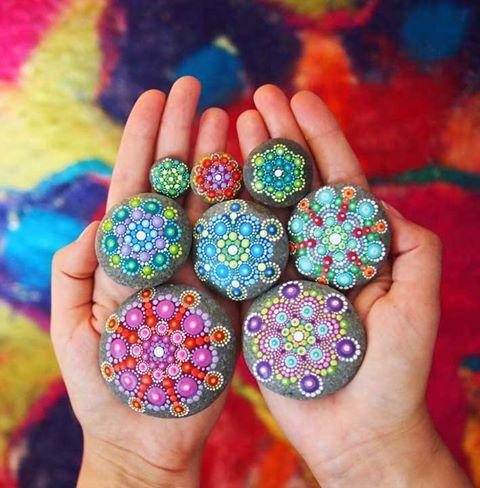 Piedras mandalas3 - Crea tus propios mándalas