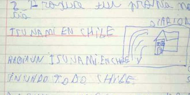 terremoto tsunami chile - Un niño de ocho años predijo el terremoto y tsunami de Chile