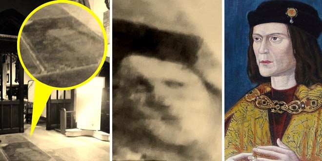 fantasma rey ricardo iii - Psíquica fotografía el fantasma del rey Ricardo III en la Catedral de Leicester
